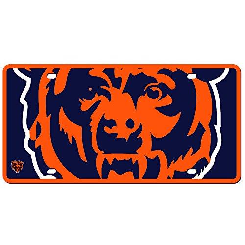 Chicago Bears License Plate - Acrylic Mega Style (Plate Chicago Bears Laser License)
