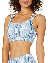 Gaiam Women's Strappy Wireless Sports Bra - Medium Impact Racerback Workout & Yoga Bralette