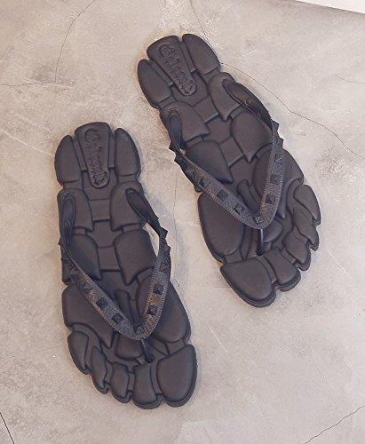 fankou maschio personalizzati giovane sandali estate nero sandali 43 creativi estate studenti Pantofole rEq6rw