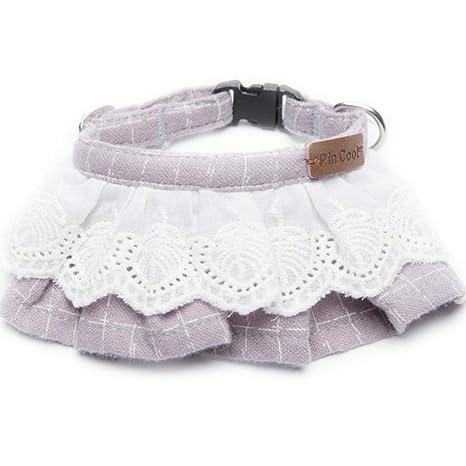 Ygcww Ajustable Collar para Mascotas Corbata De Gato Collar De ...