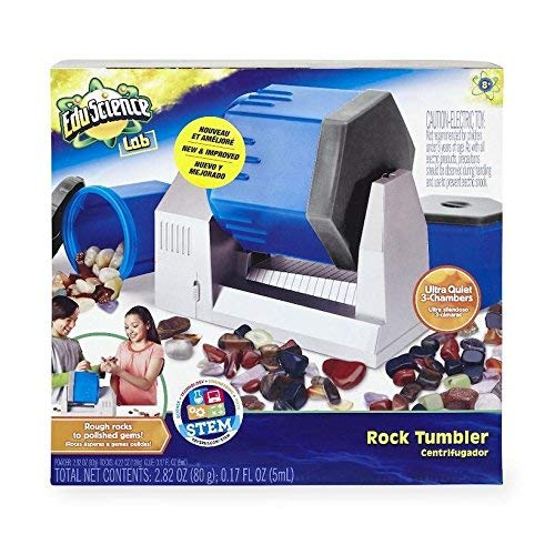 Edu Science Lab ROCK TUMBLER, New & Improved w/3 Ultra Quiet Chambers (Rocks included) by Toys R Us (Image #1)