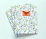 8 Tiny Envelopes Hand Illustrated Thank You Cards - August Garden