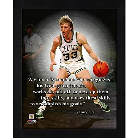 uk availability caf0e 1e1dc Amazon.com   Larry Bird Boston Celtics (Dribbling) Framed 11x14