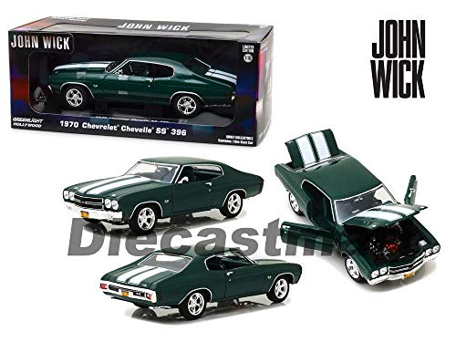 1970 Chevrolet Chevelle SS 396 Green John Wick Movie 1:18 13505 (396 1970 Chevelle Ss)