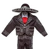 Boys Charro, Boys Cotton Guayabera, Boys Baptism, Charro, Boys, Mexican Wedding Shirt, Guayaberas, Baptism outfit, Mens Charro (2 Year, Black)