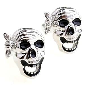 Men¡¯s creative skull cufflinks cuff nail xk156485