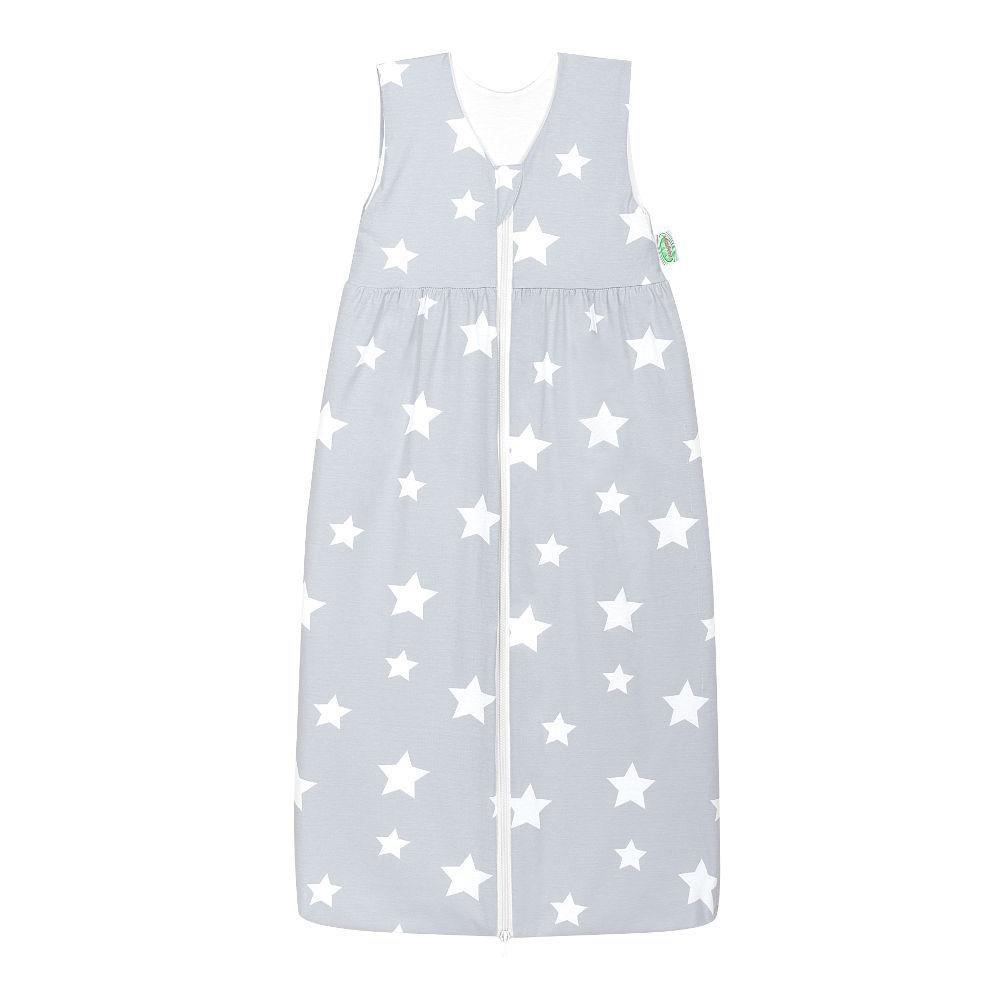 Odenwälder Jersey-Schlafsack Anni white stars light silver, Größe:110