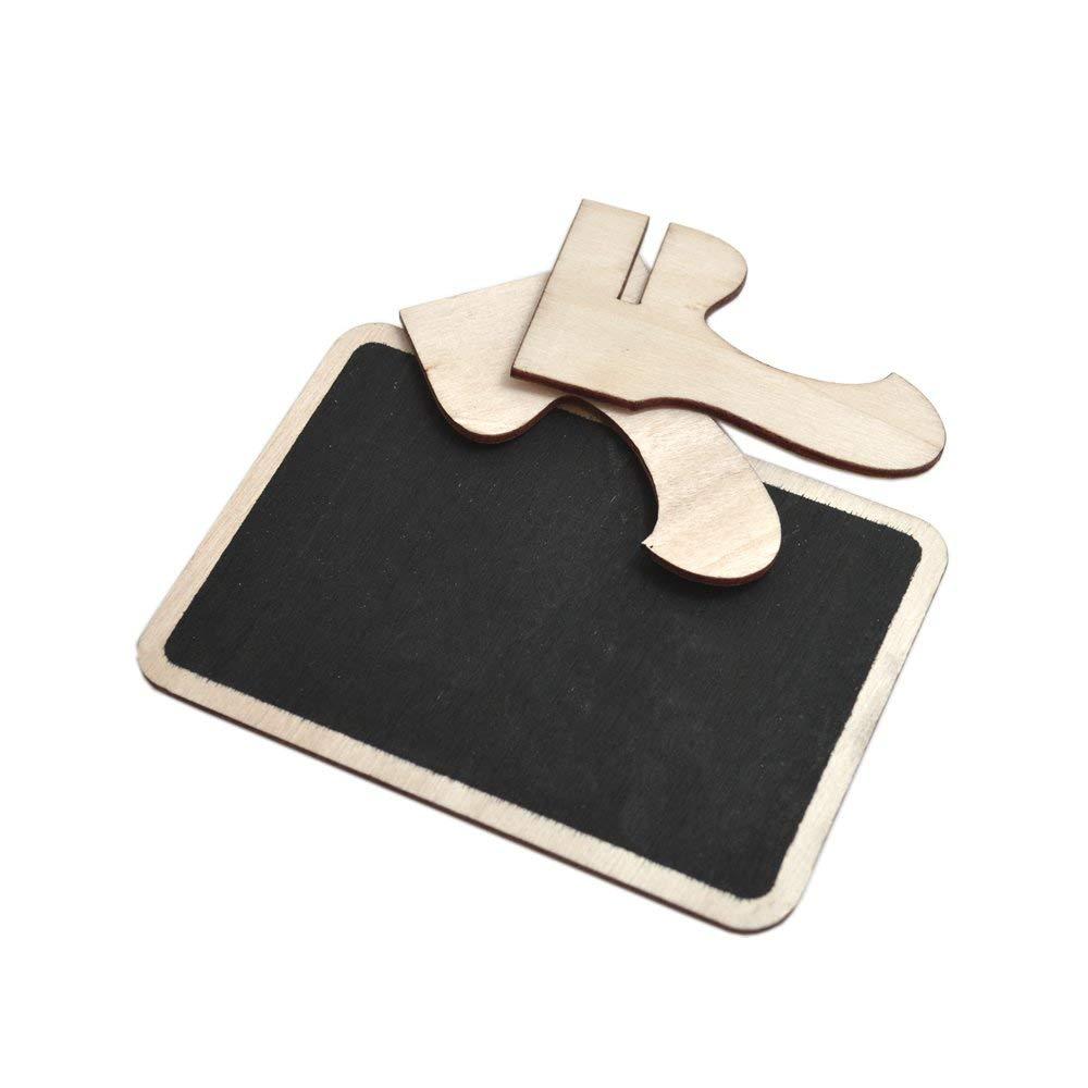 Partys BronaGrand Mini-Kreidetafeln mit Staffelei f/ür Botschaften Hochzeiten 12 St/ück