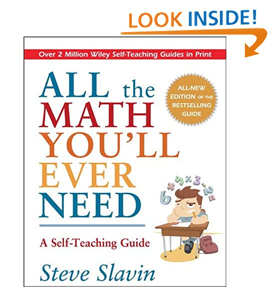 Amazon all the math youll ever need a self teaching guide amazon all the math youll ever need a self teaching guide 8601400354353 steve slavin books fandeluxe Image collections