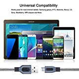 USB Cords (6ft), Besgoods 3-Pack USB 2.0 Braided