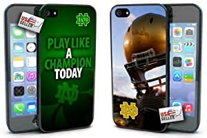 Notre Dame Fighting Irish Play like a Champion Today Hard Case TWO PACK for iPhone 5/5s