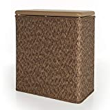 Indipartex Narrow Wicker Hamper Traditional Style in a Variety of Color Cappuccino Generous Size and Ultra Sturdy Construction Makes It Ideal for Everyday Use Ensure and Durability Wicker Material