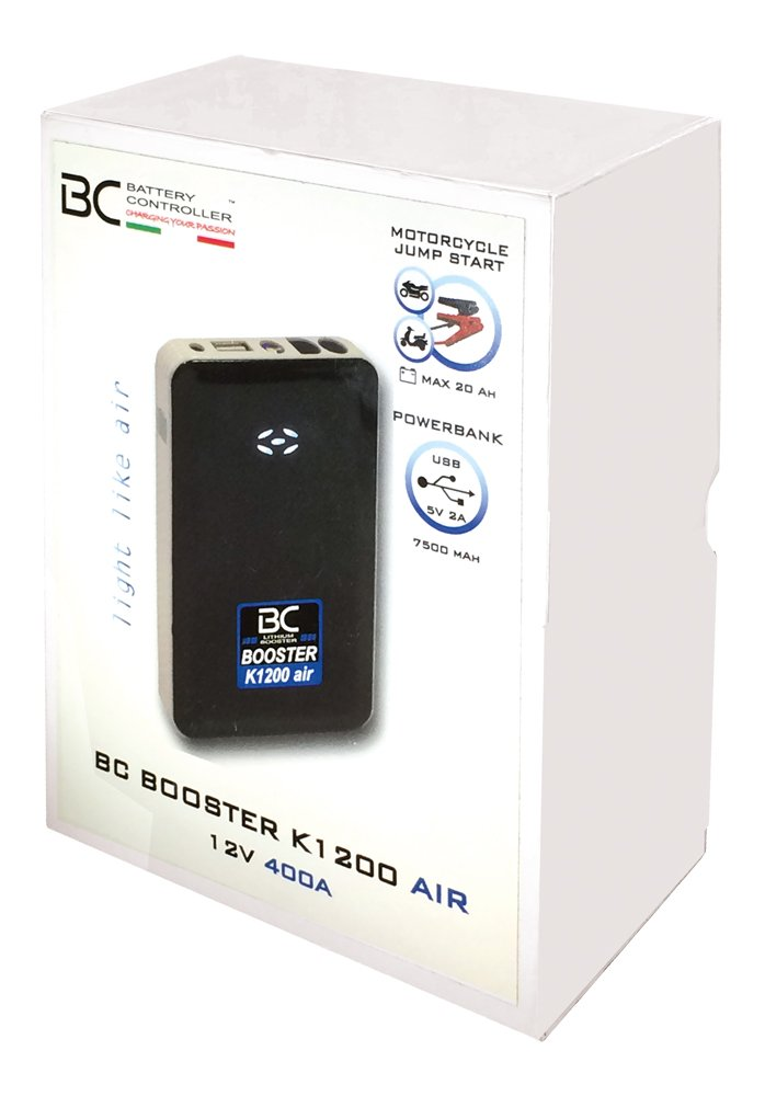 BC Battery Controller 700BCK1200AIR Avviatore di Emergenza al Litio per Batterie Moto e Scooter