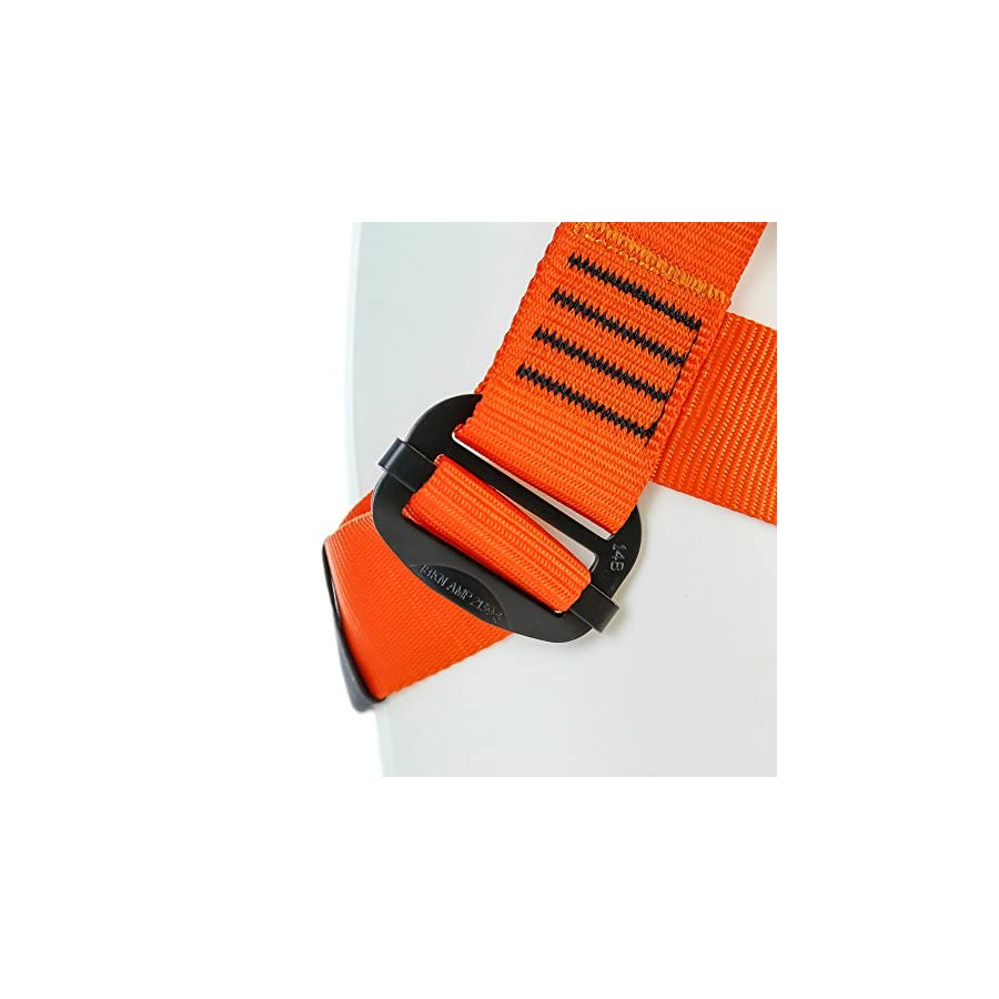 Fusion Climb Centaur Kiddo Half Body Children's Climbing Harness Ultra Light, Blue/Orange