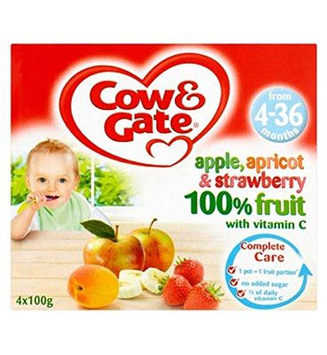 Cow & Gate Manzana, Albaricoque Y De Fresa 100% De Frutas Con Vitamina C