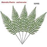 10PCS Artificial Boston Fern Bush Plant Faux Leaves Green Plants for Home Decor -Warmter