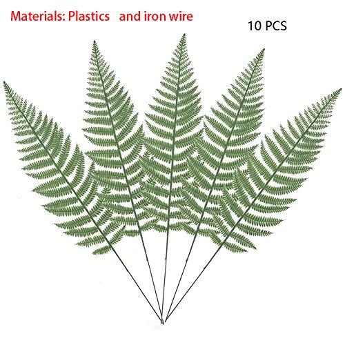 10PCS Artificial Boston Fern Bush Plant Faux Leaves Green Plants for Home Decor -Warmter by Warmter