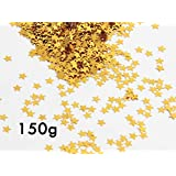Happy Shop 150 Grams Star Confetti Glitter Metallic Foil Stars Table Confetti for Party Wedding Festival Decorations,DIY Craft,Gold