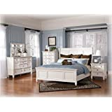 Amazon Com Ashley Zayley White Storage Full Size Bed Kitchen Amp Dining