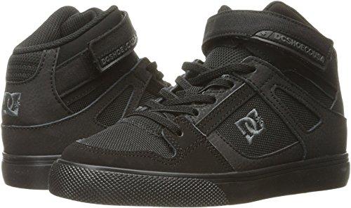 DC Kids Youth Spartan High EV Skate Shoes Sneaker, Black/Black/Black, 3 M US Little Kid