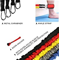 20lbs to 40lbs Resistance Tubes with Heavy Duty Protective Nylon Sleeves Anti-Snap Best Gift for Your Workout Fellows 11 Pieces Resistance Bands,Exercise Bands Resistance Set