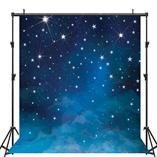 Allenjoy Twinkle Twinkle Little Star Photo Backdrop 5x7ft Decorations Photography Props Star Wars Party Photography Backdrops Night Sky Photo Backdrop Studio for Children Kids Backdrop