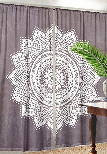 Ombre Mandala Window Curtains Indian Drape Balcony Room Decor Curtain Boho Set By Labhanshi ()