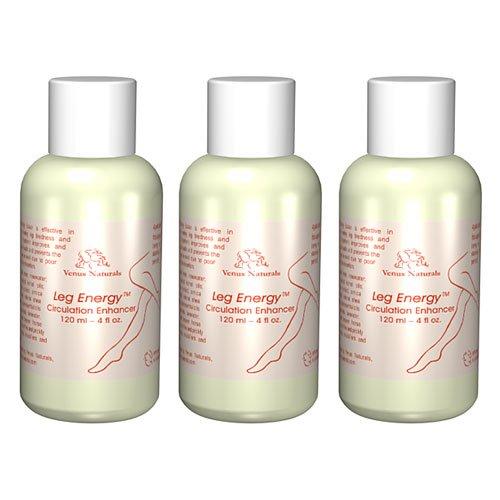 Нога энергии 3 бутылки - Лосьон для варикозного расширения вен и плохой голени тираж - Лучший Value Pack