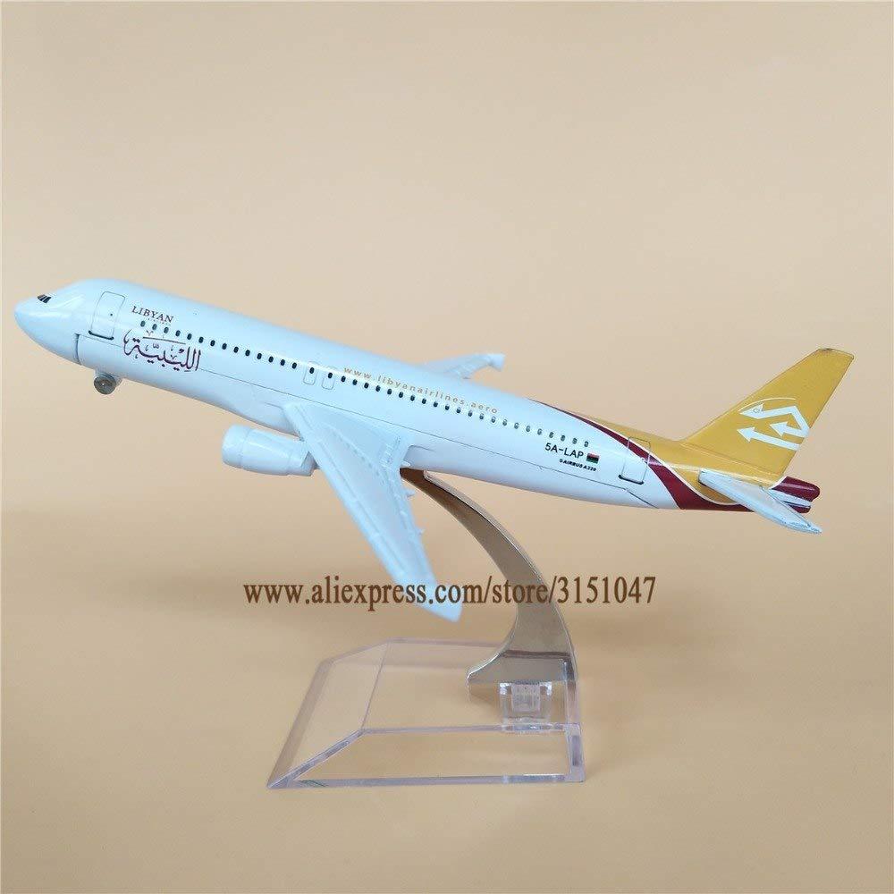 Ochoos 16cm メタルエアリビアン航空320エアウェイ飛行機モデル 航空機モデル スタンド付き クラフトキッズギフト   B07NSC9PVW
