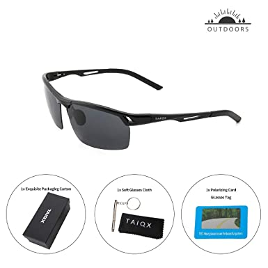 c09423166f Image Unavailable. Image not available for. Color  TAIQX Polarized Sports  Sunglasses for Men Cycling Running Driving Fishing Golf Baseball Glasses  UV400