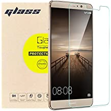 [2-Pack] Huawei Mate 9 Screen Protector Glass, [Anti-fingerprint] [Anti-scratch] 9H Hardness 0.26mm Ultra-thin Tempered Glass Protective Film [Case Friendly] for Huawei Mate 9 Original Touch Feeling