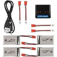 XCSOURCE 4pcs 3.7V 500mAh Battery + 4 Ports Li-po Battery USB Charger for Syma X5HC X5HW Quadcopter Drone BC706