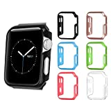 [6 Color Pack] Fintie Apple Watch Case 42mm, Ultra Slim Lightweight Polycarbonate Hard Protective Bumper Cover for All Versions 42mm Apple Watch Series 3 (2017) / Series 2 / Series 1 Sport & Edition