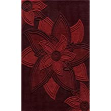 Momeni Rugs DELHIDL-40RED80A0 Delhi Collection, 100% Wool Hand Carved & Hand Tufted Contemporary Area Rug, 8' x 10', Red