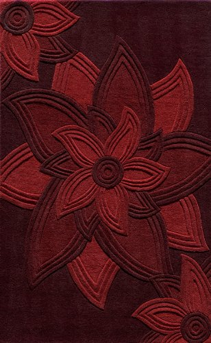 Momeni Rugs DELHIDL-40RED5080 Delhi Collection Area Rug 5' x 8' Red