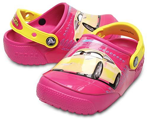 Sandália, Crocs, Lights Cars 3 Kids, Candy Pink, 24, Criança Unissex