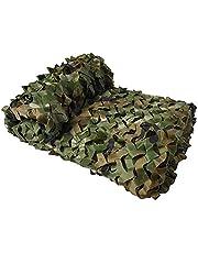 JUNKAI Rede camuflada, rede de malha de camuflagem leve com rede de malha atrás para decoração de caça, sombra de sol, festa, acampamento ao ar livre