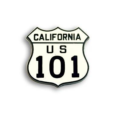 Amazon.com: California Highway 101 cartel Pin: Clothing
