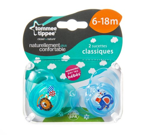Tommee Tippee Closer to Nature Any Time 2 Orthodontic Soothers 6-18m