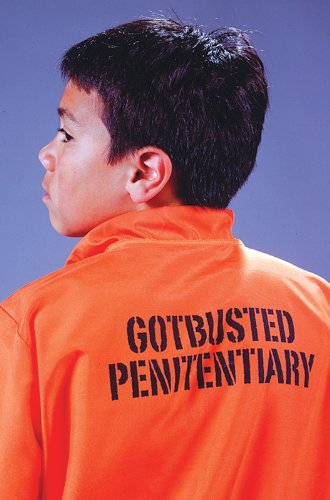 Child Got Busted Prisoner Costume - Medium (8-10)