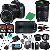 Canon EOS 6D with 24-105mm IS STM + 55-250mm IS STM + 2pcs 16GB Memory + Case + Memory Reader + Tripod + ZeeTech Starter Set + Wide Angle + Telephoto + Flash + Filter