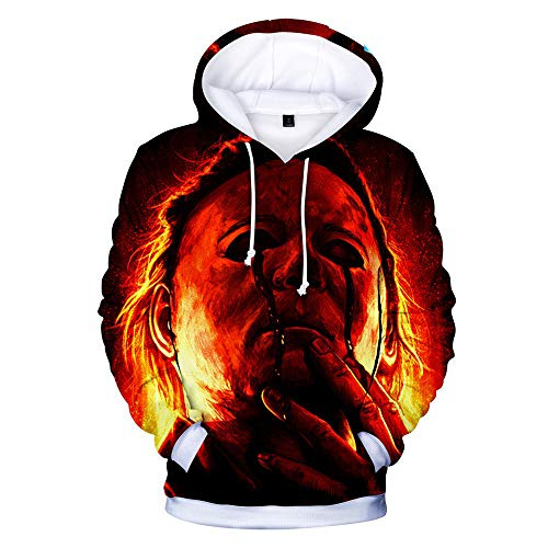 Jerebko Michael Myers Halloween Digital Print 3D Hooded and Long-Sleeve Hoodie C Style M -