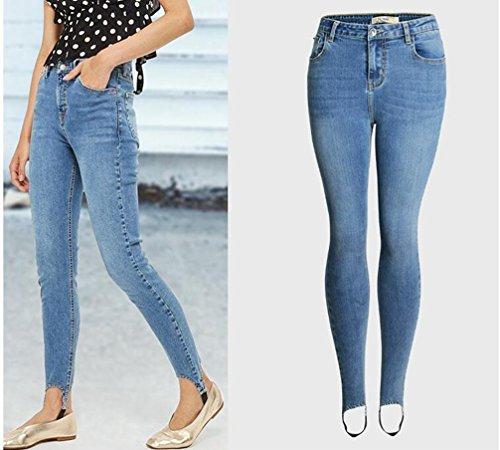 lgant trier Pantalons Crayon Pantalon Jeans Femmes Bleu Tapered Dlav YOUJIA Skinny Denim Jegging q0Y8HE0wx