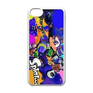 Splatoon 8 funda iPhone caja del teléfono celular 5c funda O7B4DOXCME blanco