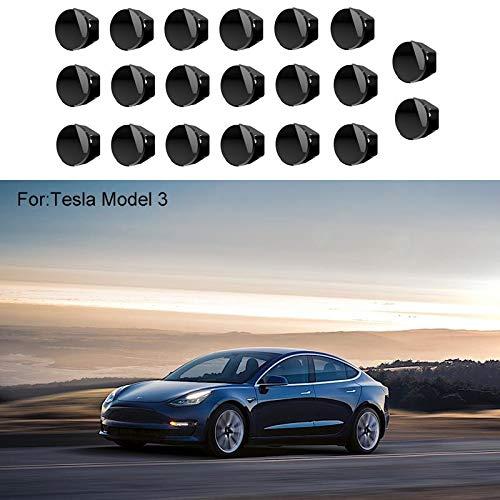 Womdee Cubiertas para Tuercas de Tuercas Modelo 3 Tesla, 20 ...