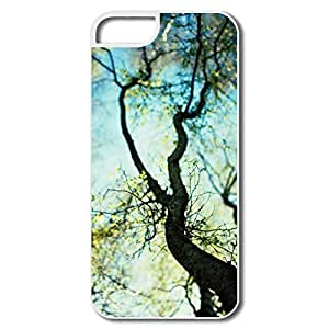 IPhone 5 5S Cases, Branches Spring Case For IPhone 5 - White Hard Plastic