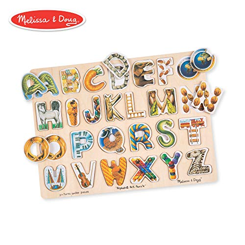 Melissa & Doug Alphabet Art Wooden Puzzle (26 pcs)