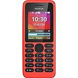 Nokia 130 Feature Phone GSM (Ecran : 1,8 pouces - Double Micro-SIM - Windows) Rouge