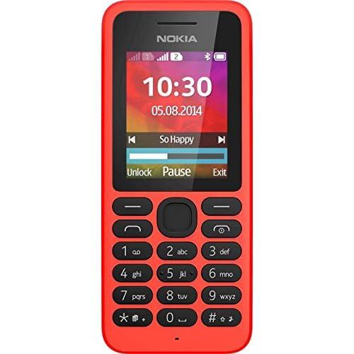 Nokia 130 double SIM - feature phone GSM, Écran QQVGA amélioré 1,8 pouces, Coque ultra résistante en polycarbonate - Rouge