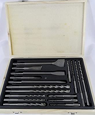 Power Tools New 17pc Rotary Hammer Drill SDS+ Plus Bit Bits Chisel Set Concrete Fits Hilti